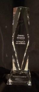 Award presented to David Mainse by CCCC