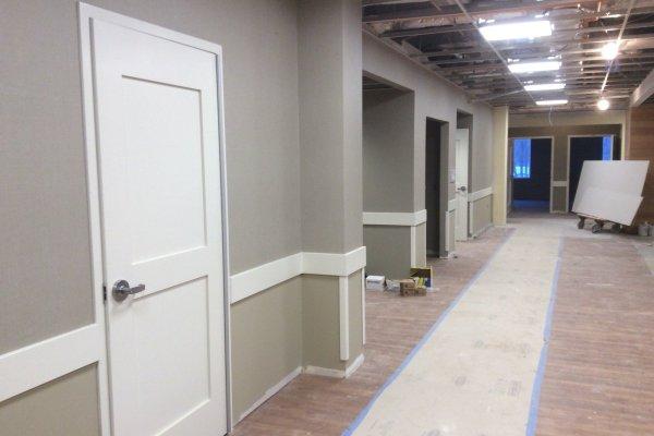 Marycrest Manor hallway under construction