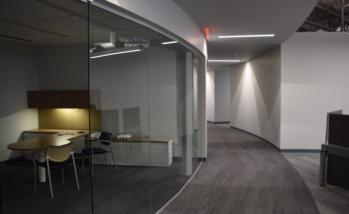 11Carhartt Headquarters hallways and offices with glass door