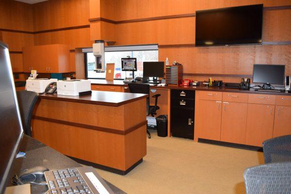 11DFCU Brighton office interior with drive-thru window