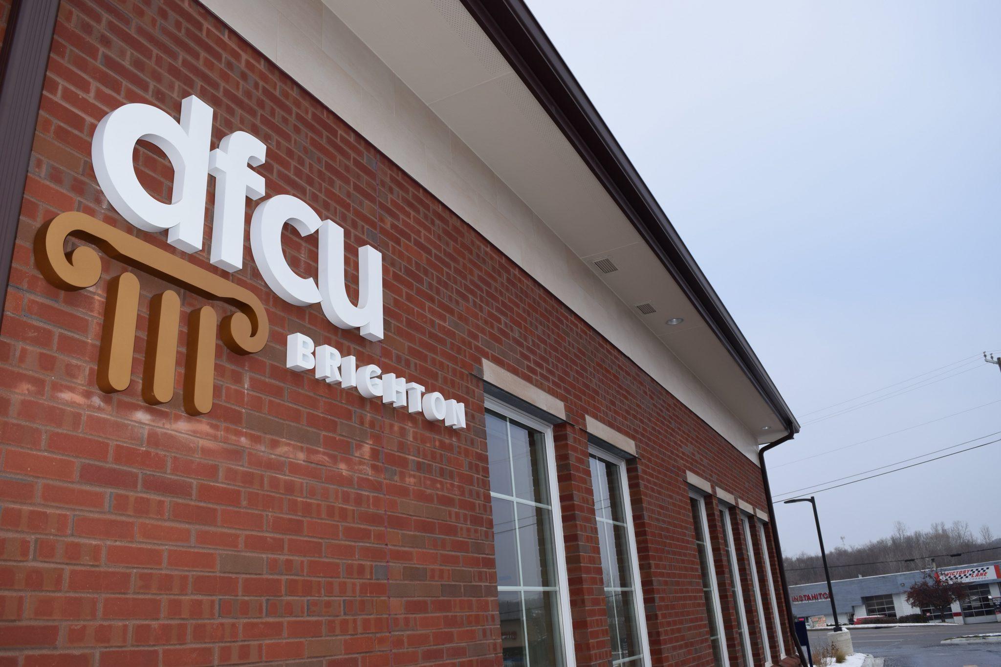 11DFCU Brighton logo on building exterior