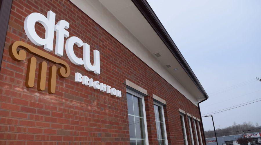 DFCU Brighton logo on building exterior