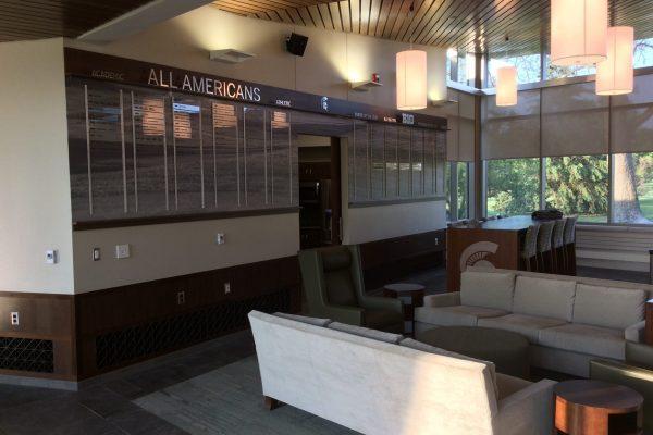 11MSU Golf Facility All Americans award wall