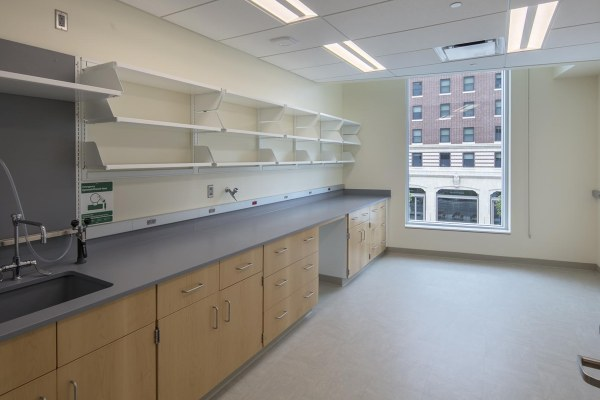 11research center lab room with large window
