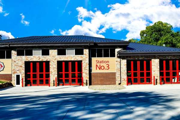 West Bloomfield Fire Station exterior with driveway