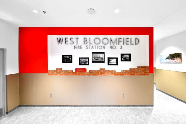 West Bloomfield Fire Station image wall