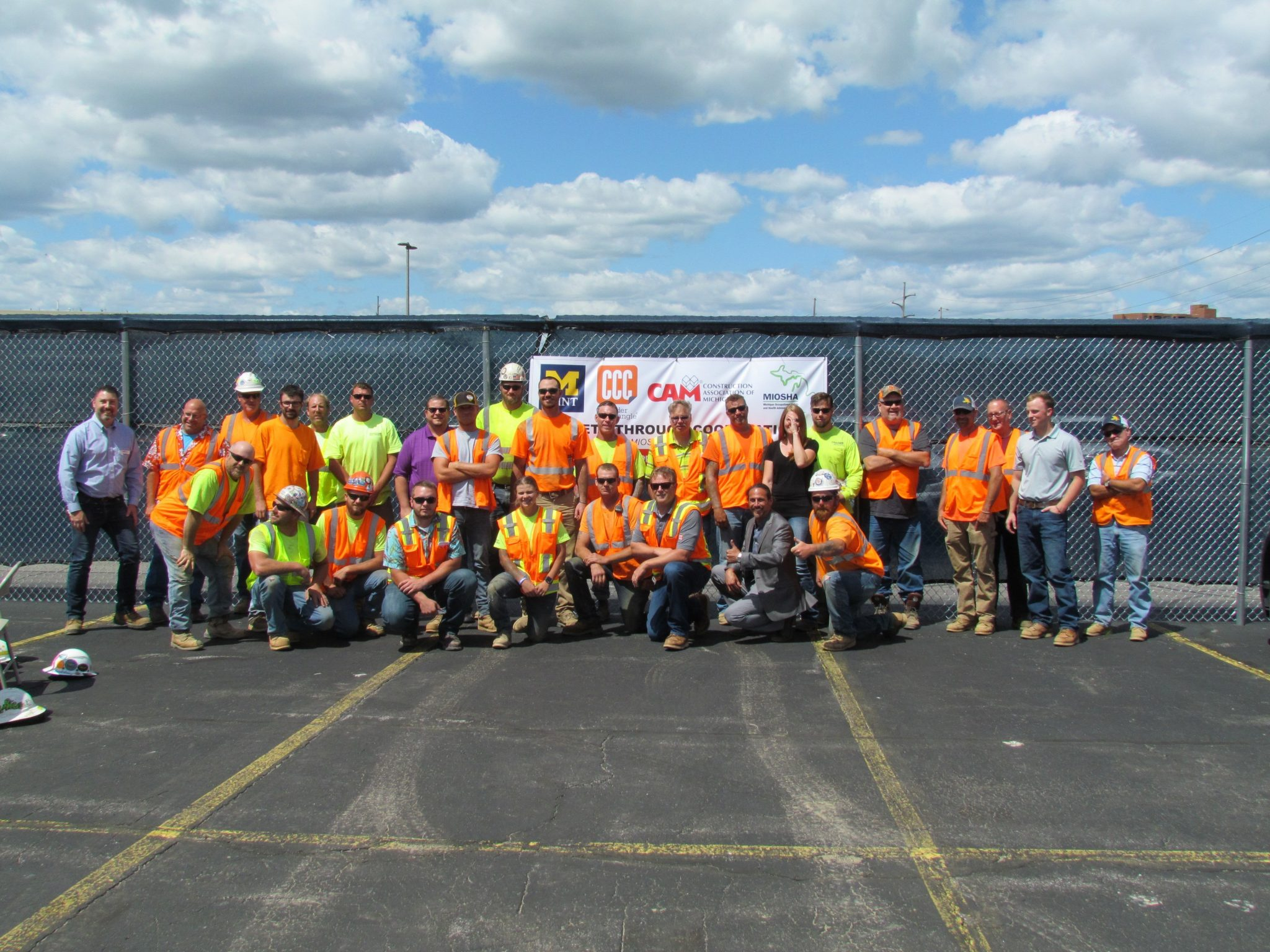 CCC construction crew posing outside Murchie Hall site