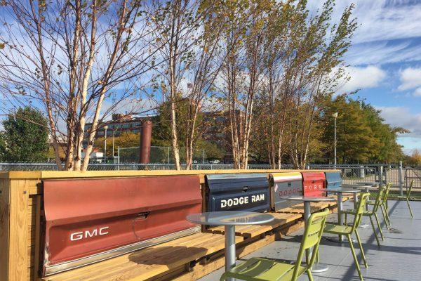 Robert C. Valade Park outdoor seating