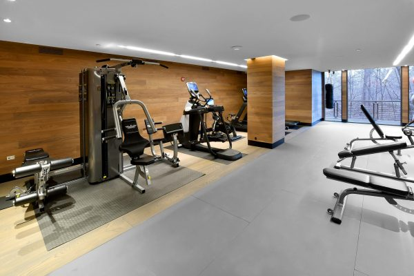 Brookside Condominiums gym with machines