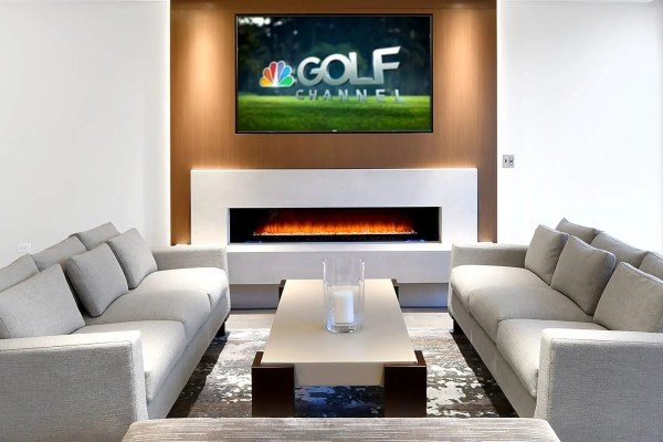Brookside Condominiums lounge with tv