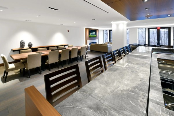 Brookside Condominiums bar and dining table