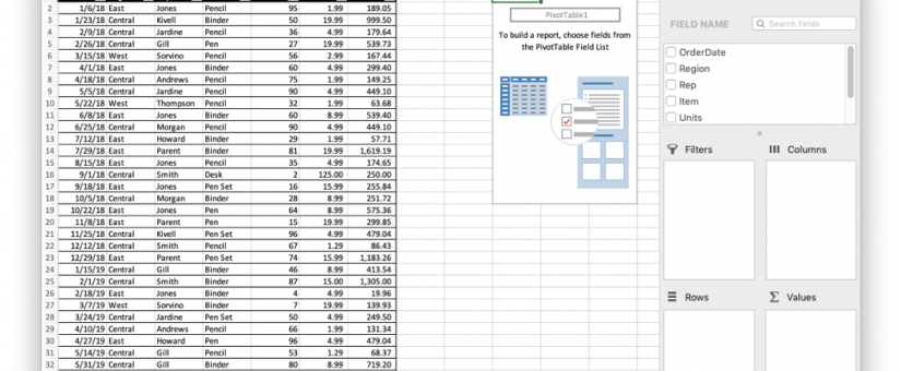 Create High Level Reports Using Excel Pivot Table to Show