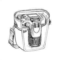 Medium Deluxe Camera Bag for Digital SLR Camera with