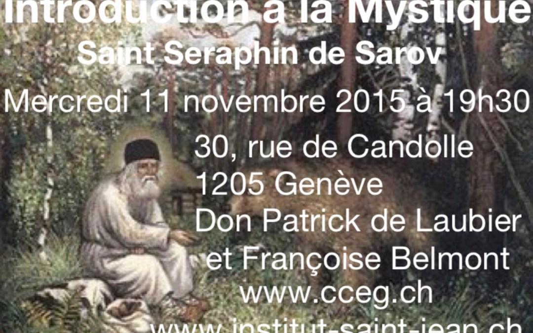 Introduction à la mystique par Don Patrick de Laubier – Mercredi 11 novembre à 19:30, 30 rue de Candole 1205 Genève