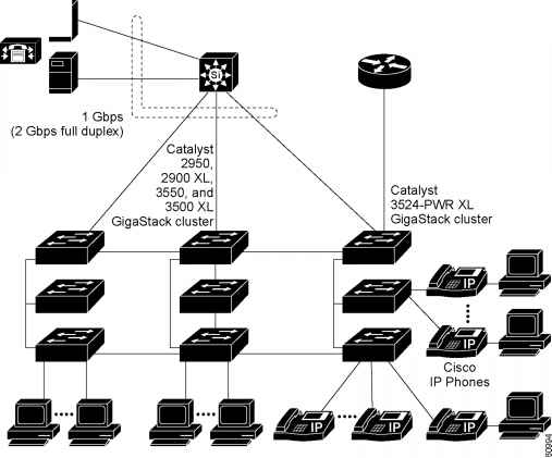 Collapsed Backbone and Switch Cluster Configuration