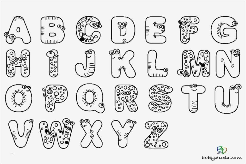 Buchstaben Vorlagen A4 Wunderbar Buchstaben Ausmalen