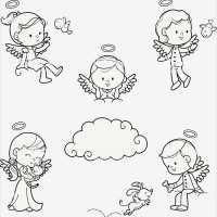 Engel Zeichnen Vorlagen Angenehm Engel Kinder Malen Set ...