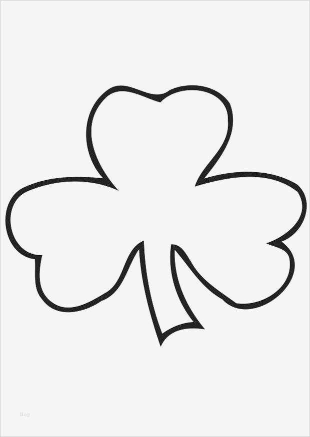 Malvorlage Vierblättriges Kleeblatt