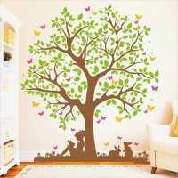 Baum An Wand Malen Vorlagen Beste Baum Mit Mädchen Auf ...