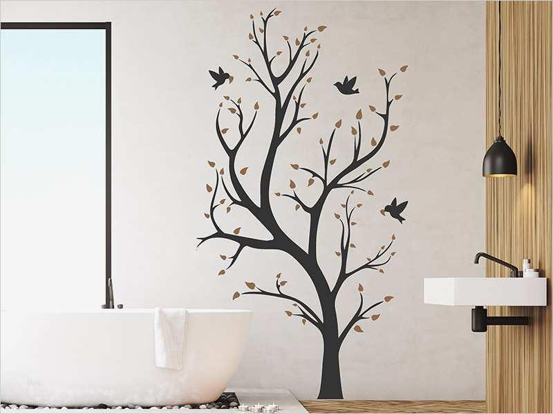 Baum Malvorlage Wand