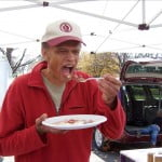 Farmer Jim Pitts Samples His Own Pancakes
