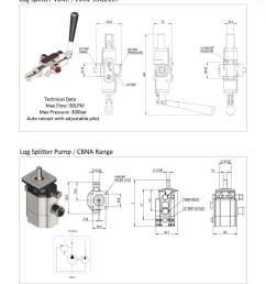 standard cylinders double acting log splitter pump [ 1240 x 1754 Pixel ]
