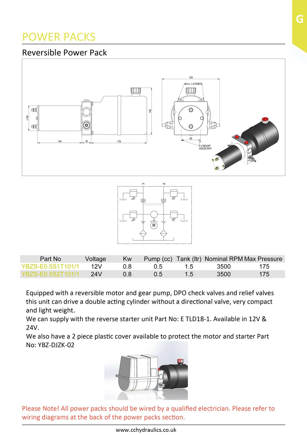 hight resolution of reversible power pack