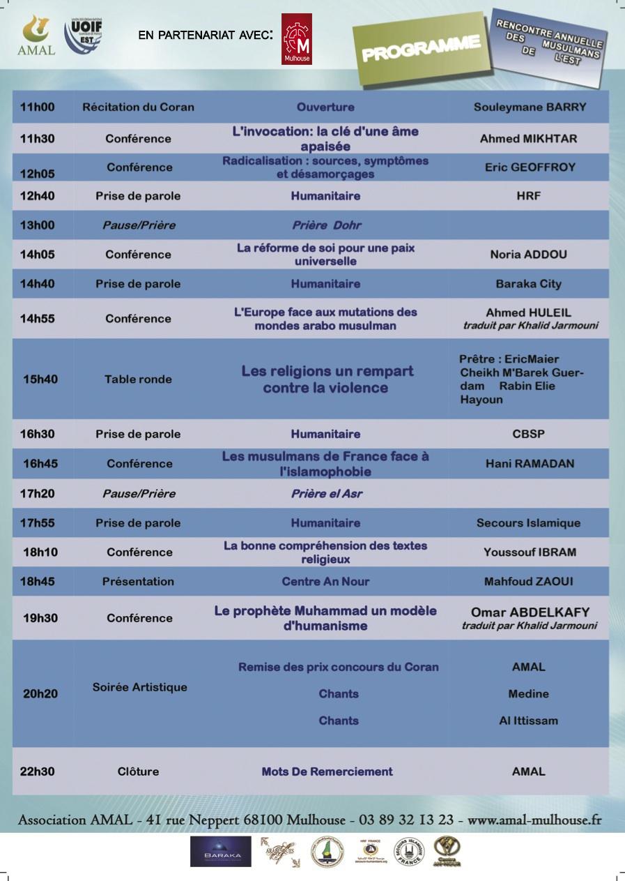 Rencontre annuelle des musulmans de l'est 2018