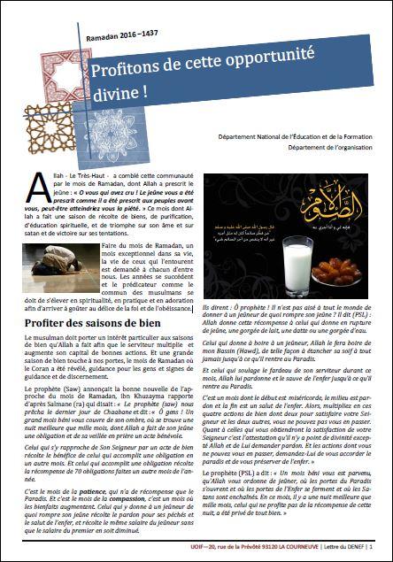 ramadan besancon uoif 2016