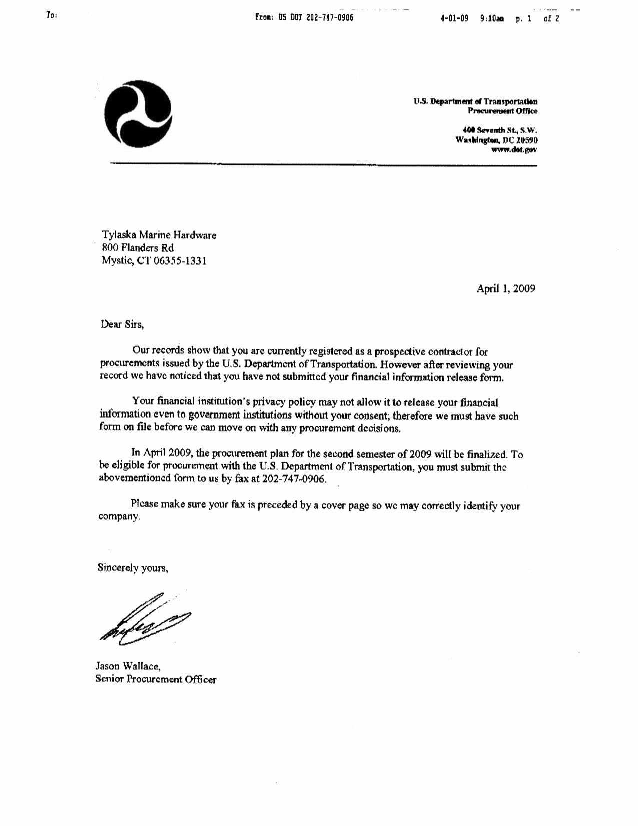 Requesting For Information Letter