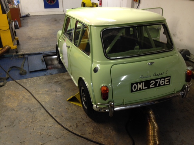 CCK Historic Fiesta Yellow Mk1 Mini Cooper S Track Car