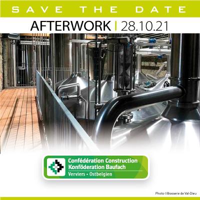 Afterwork à Liège pour les 75ans de la Confédération Construction