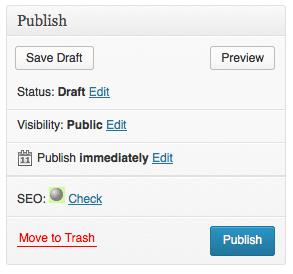 Wordpress publishing a post