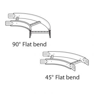Legrand 300mm Medium Duty 90Deg Flat Bend