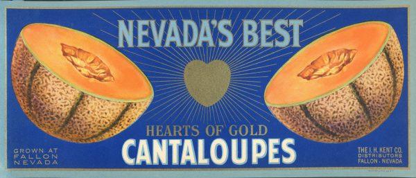 Original Hearts of Gold Cantaloupe Label