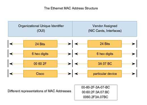 Ethernet MAC Address Structure