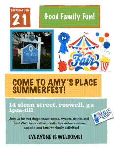 Amy's Place flyer