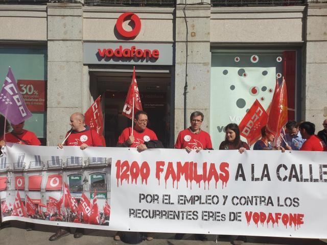 Seguimiento masivo en la huelga de Vodafone