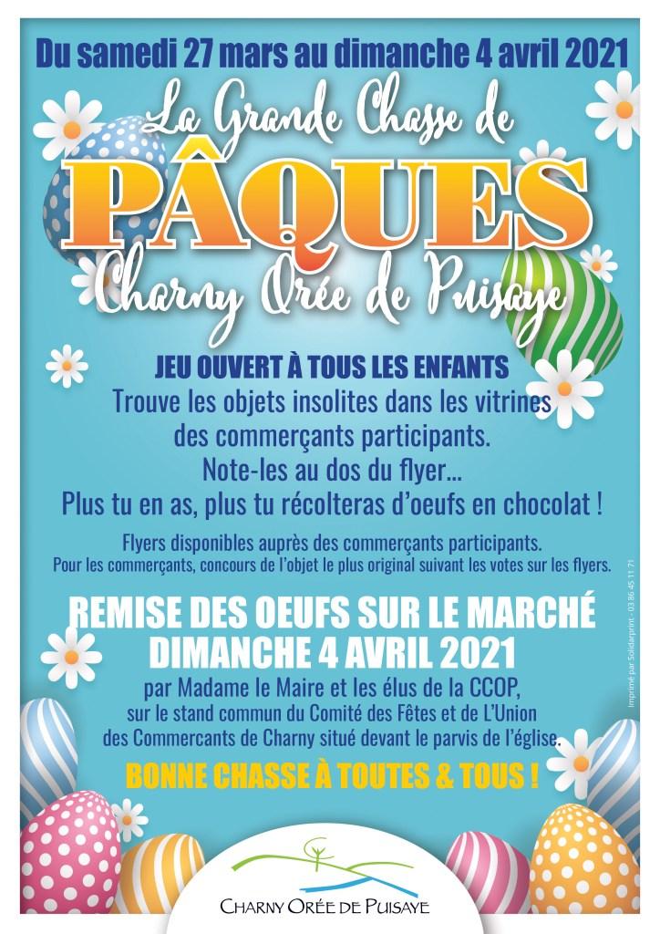 Affiche La Grande Chasse de Pâques Charny Orée de Puisaye