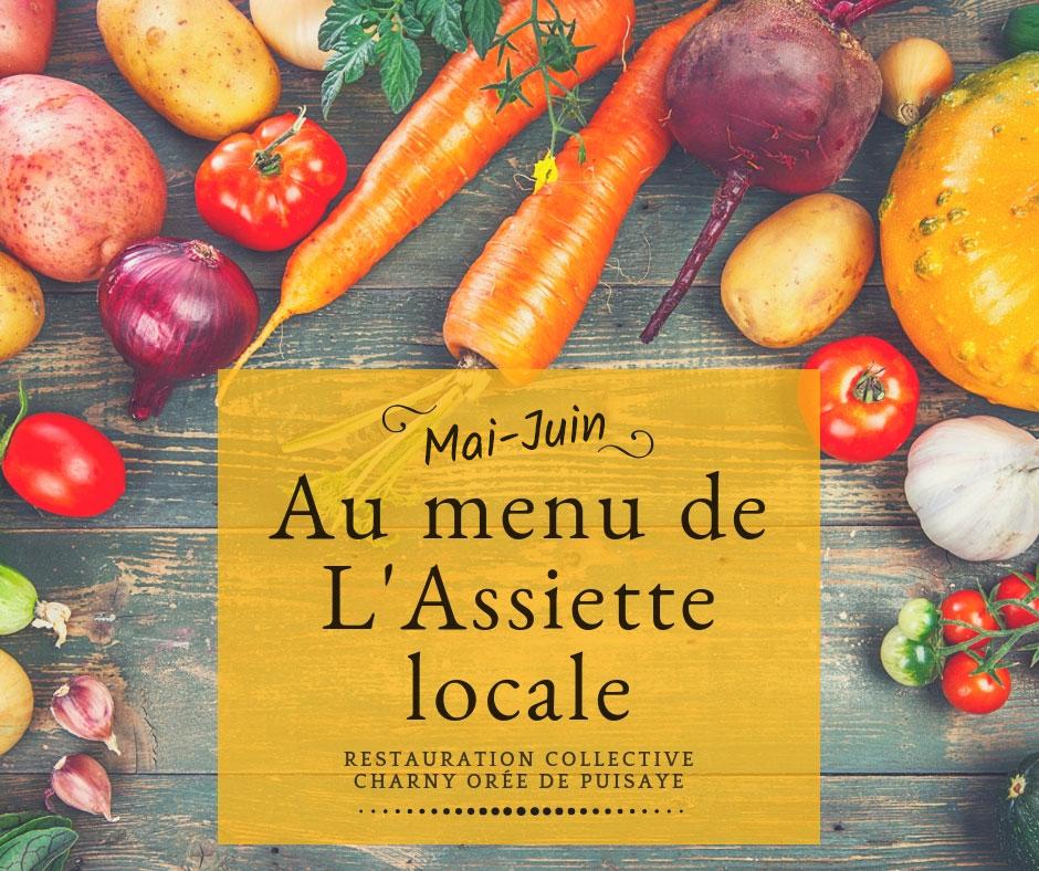 Au menu de l'assiette locale en mai juin pour la cantine scolaire de la CCOP