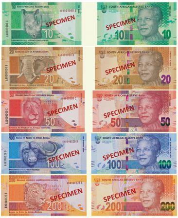 Devises Des Nouveaux Billets Pour L Afrique Du Sud