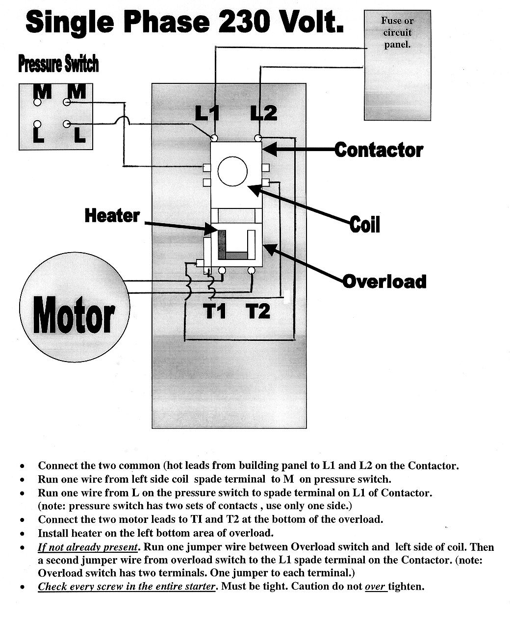 1 phase contactor with overload wiring diagram printable teeth magnetic starters
