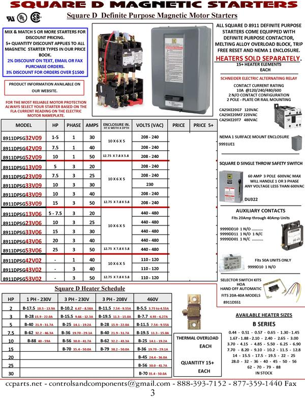 3 Phase Air Compressor Pressure Switch Wiring Diagram Square D Mag Starters