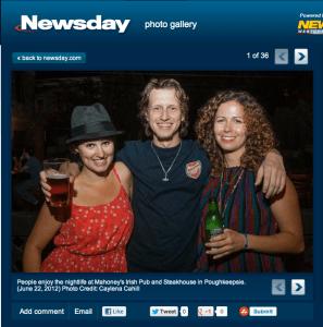 Nightlife at Mahoney's on Newsday