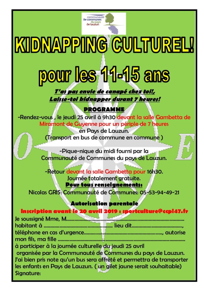 kidnapping culturel
