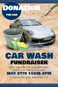 Car Wash Fundraiser for CHS Beta