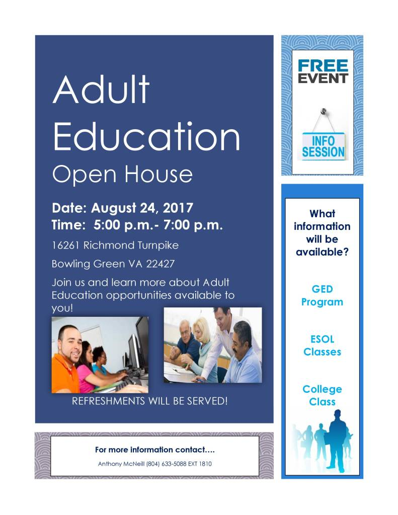 Adult Education Open House