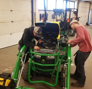 Tristan Bissoon and Noah Bradley, FFA Tractor Troubleshooting Team