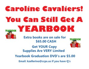 Yearbooks May Still Be Purchased