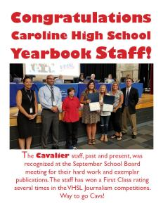 yearbook staff recognition